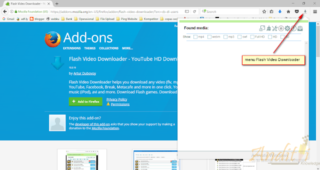 Cara Download Video Apapun dan Dimanapun Menggunakan Flash Video Downloader-anditii.web.id