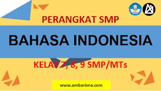 Dowload Perangkat RPP 1 Lembar Bahasa Indonesia SMP Kelas 7, 8, 9 Terbaru