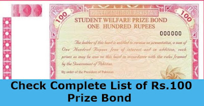 Prize Bond Rs.100 Results, Draw 35  in Faisalabad 2021