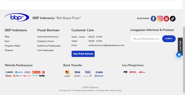 Belanja mudah di BBP Indonesia