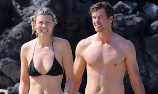 Adam Scott And Marie Kojzar In The Bahamas