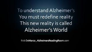 Alzheimer's Quote Alzheimer's versus Reality