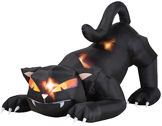 Animated Airblown Black Cat with Turning Head for Halloween