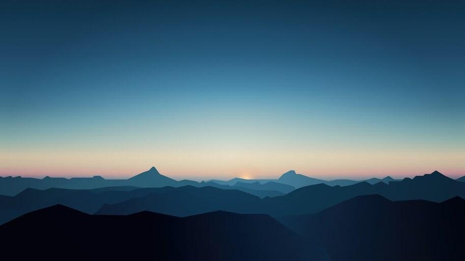 Mountain, Landscape, Sunrise, Scenery, 8K, #6.913