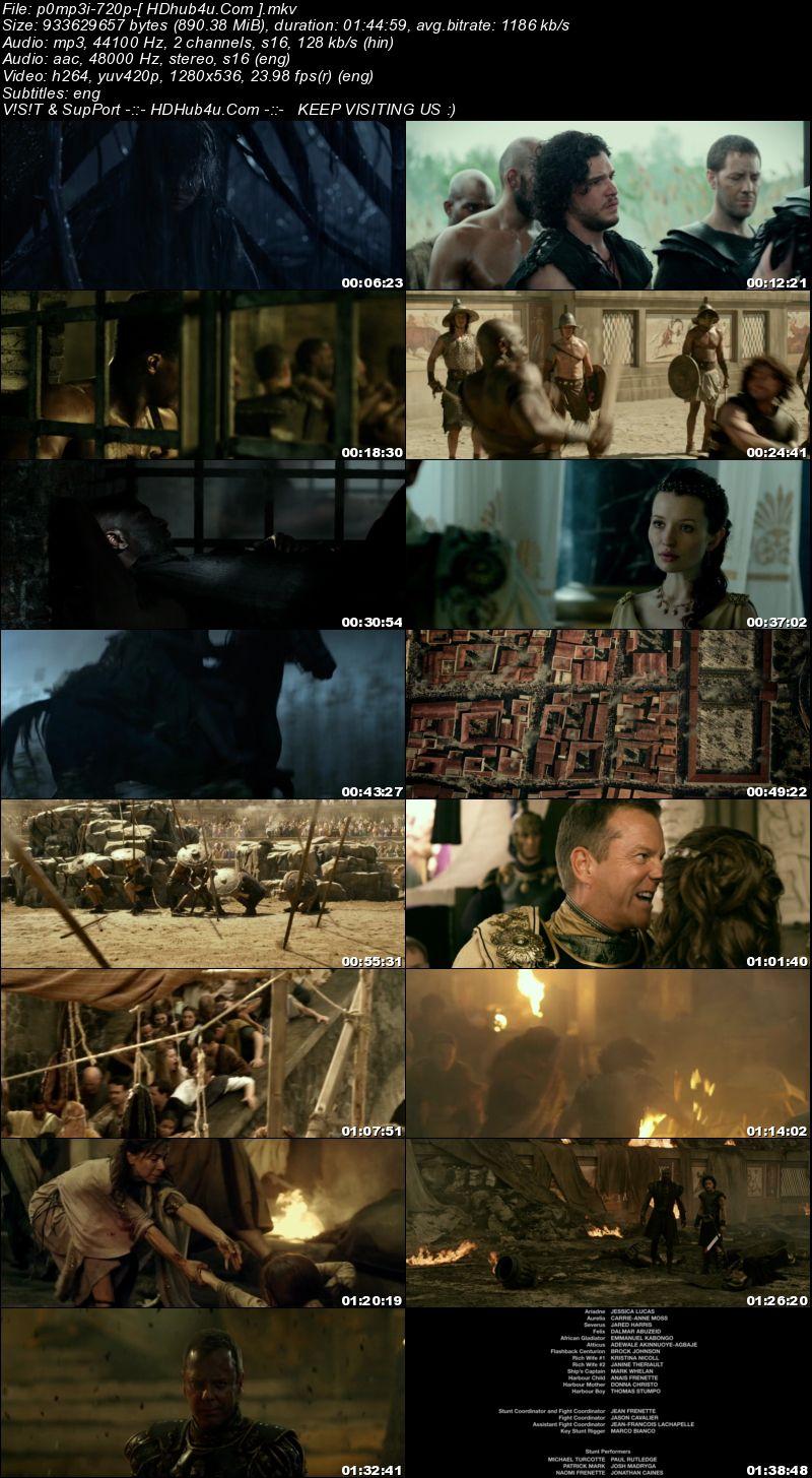 Pompeii 2014 Hindi Dual Audio 720p BluRay 900Mb Download