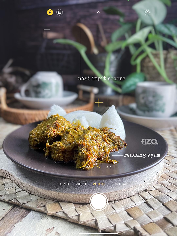 Hidangan Rendang Dan Nasi Impit 1 Syawal
