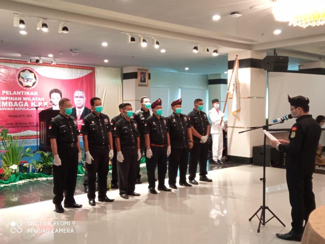 Pimwil Provinsi Kepri dan Pimda Periode 2019-2023 Dilantik Presiden Lembaga KPK