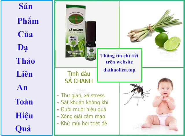 Tinh dầu sả chanh có tác dụng bảo vệ làn da khỏi côn trùng, muỗi đốt, sử dụng an toàn hiêu quả