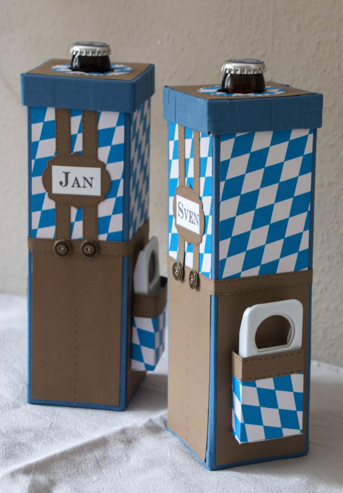 Mrs. P.´s Papercrafts: Geschenkverpackung für Bierflaschen...