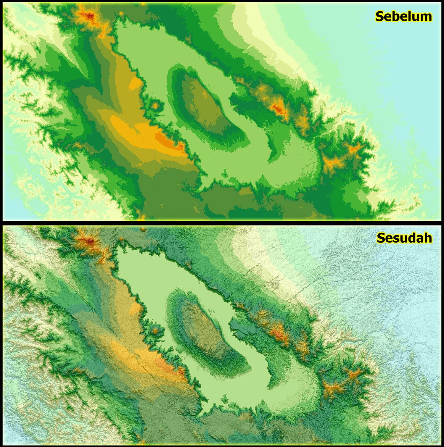 Download Hillshade Seluruh Indonesia