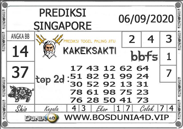 Prediksi Togel SINGAPORE DUNIA4D 06 SEPTEMBER 2020
