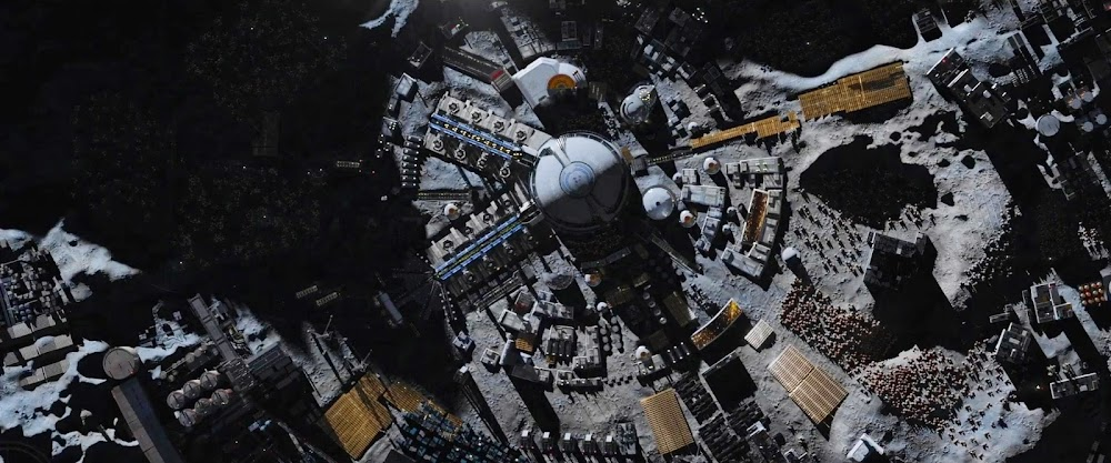 Lunar colony (Lovell City, top view) in season 5 trailer of The Expanse