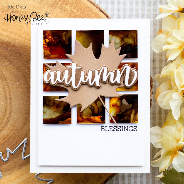 Clean and Simple cards,handmade card,Stamps,Honey Bee Stamps,ilovedoingallthingscrafty,Tim Holtz alcohol inks,stamping,CAS,Sneak Peaks,Die cutting,card making,Autumn Afternoon Release,
