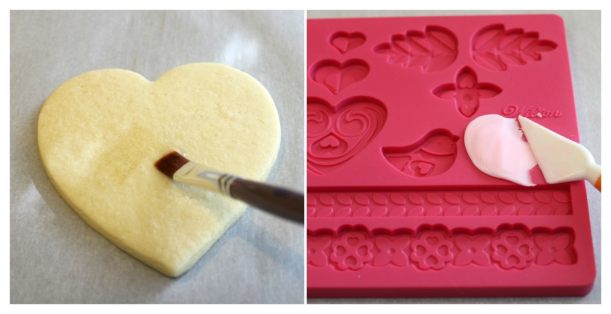 i used a fondant mold from wilton that i bought at the craft store to make the birdies you press your fondant in the mold and cut off any excess - Decorated Valentine Cookies