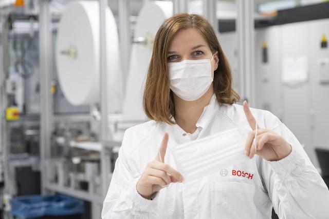 Coronavírus: Bosch coloca em operação linhas de produção de máscaras de proteção totalmente automatizadas