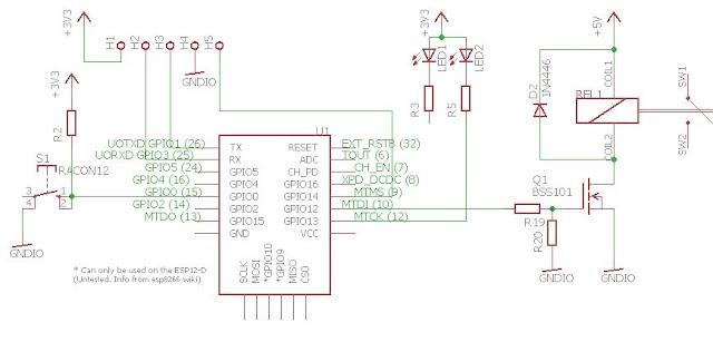 uproszczony schemat modułu SONOFF ESP8266