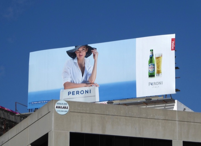 Peroni beer sun hat Jan 2017 billboard