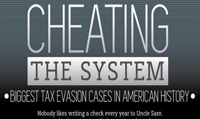 American history's biggest tax evasion cases #infographic