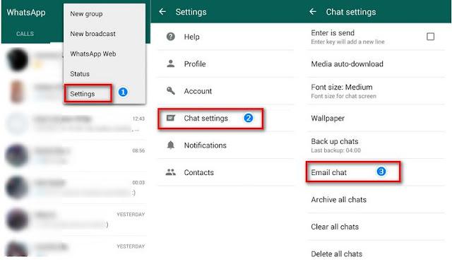 cara backup pesan whatsapp dari iPhone ke Galaxy S9