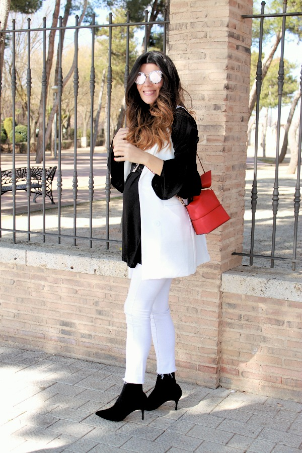 Embaraza, look embarazo, pregnancy style, top volante