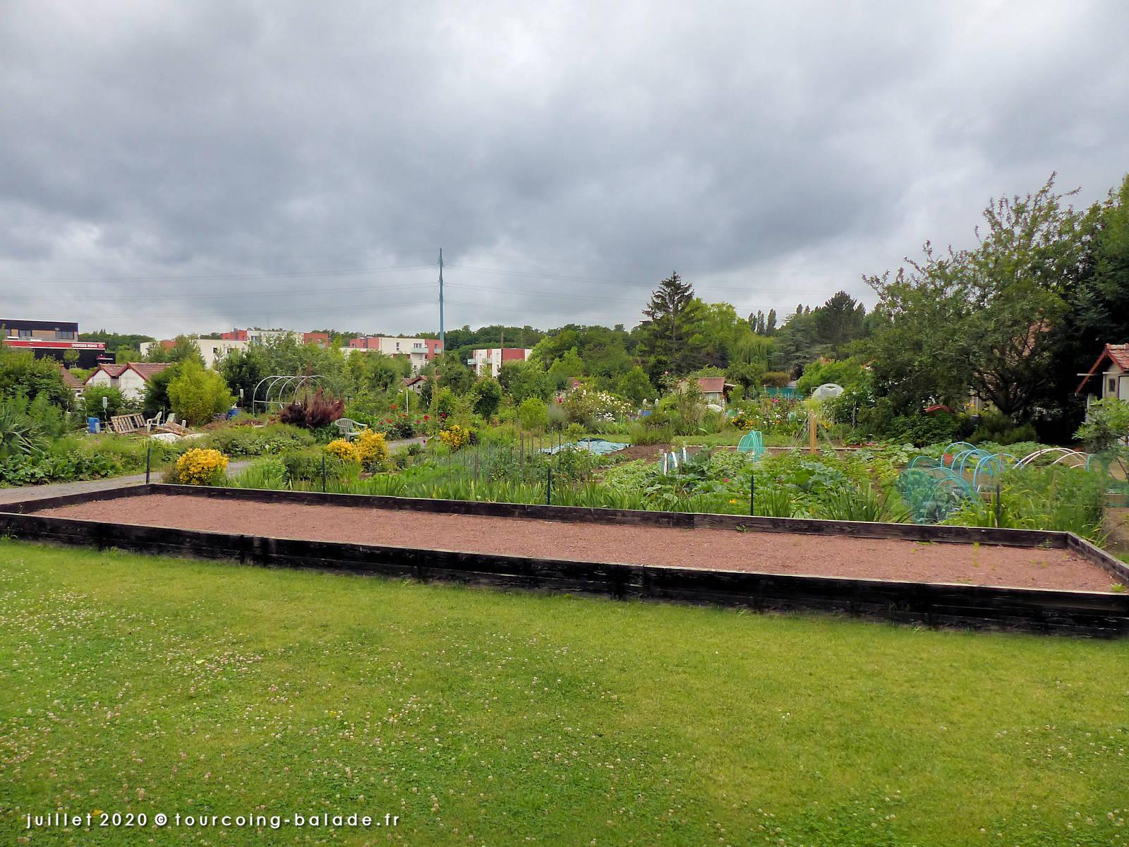 Terrain de boules, Jardins Familiaux Beau-séjour, Tourcoing 2020
