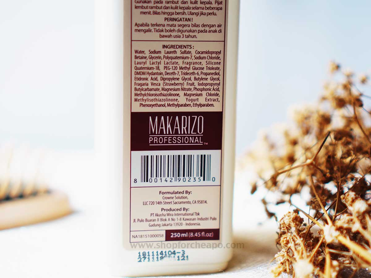 Makarizo Shampoo Texture Experience Strawberry Yoghurt Review