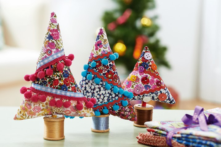 Arbol de navidad con telas handbox - Arbol de navidad tela ...