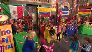 Puerto Rico Mexico Peru Cuba booths, Sesame Street Episode 4404 Latino Festival season 44
