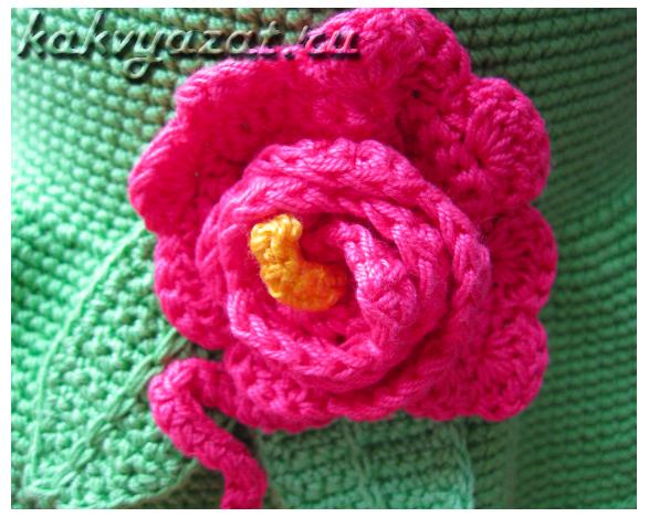 Цветок из хлопка, украшение для шляпы.