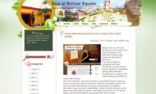 Stop at Bolivar Square Blogger Template