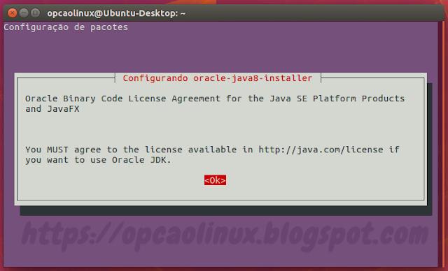 Acordo de licença do Oracle Java
