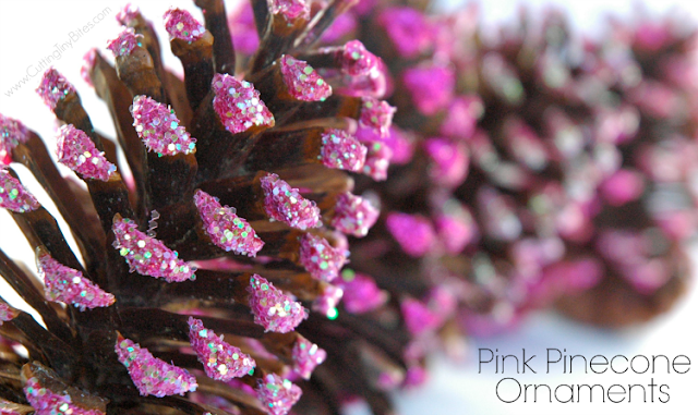 Pink Pinecone OrnamePink Pinecone Ornament Craft For Kids. Even preschoolers can make beautiful Christmas decorations! Inspired by the book series Pinkalicious.nt Christmas Craft For Kids