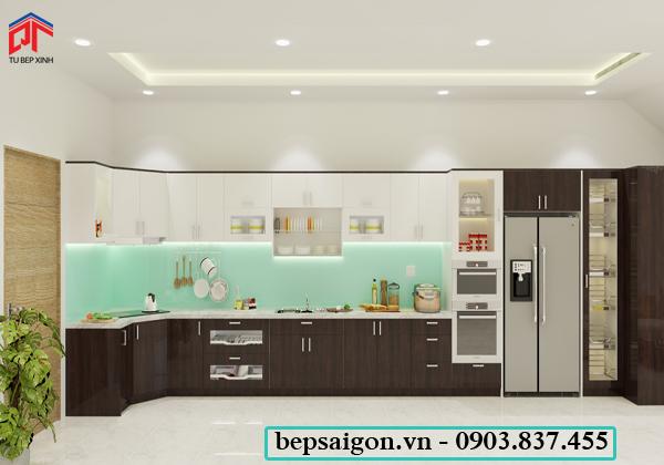 tu bep, tủ bếp hiện đại, tủ bếp acrylic, tủ bếp gia đình