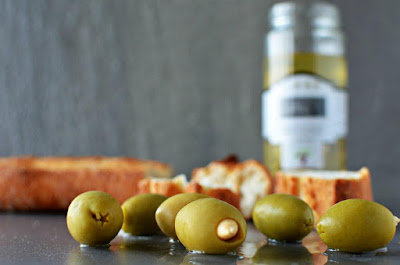 Olea europaea stuffed green olives