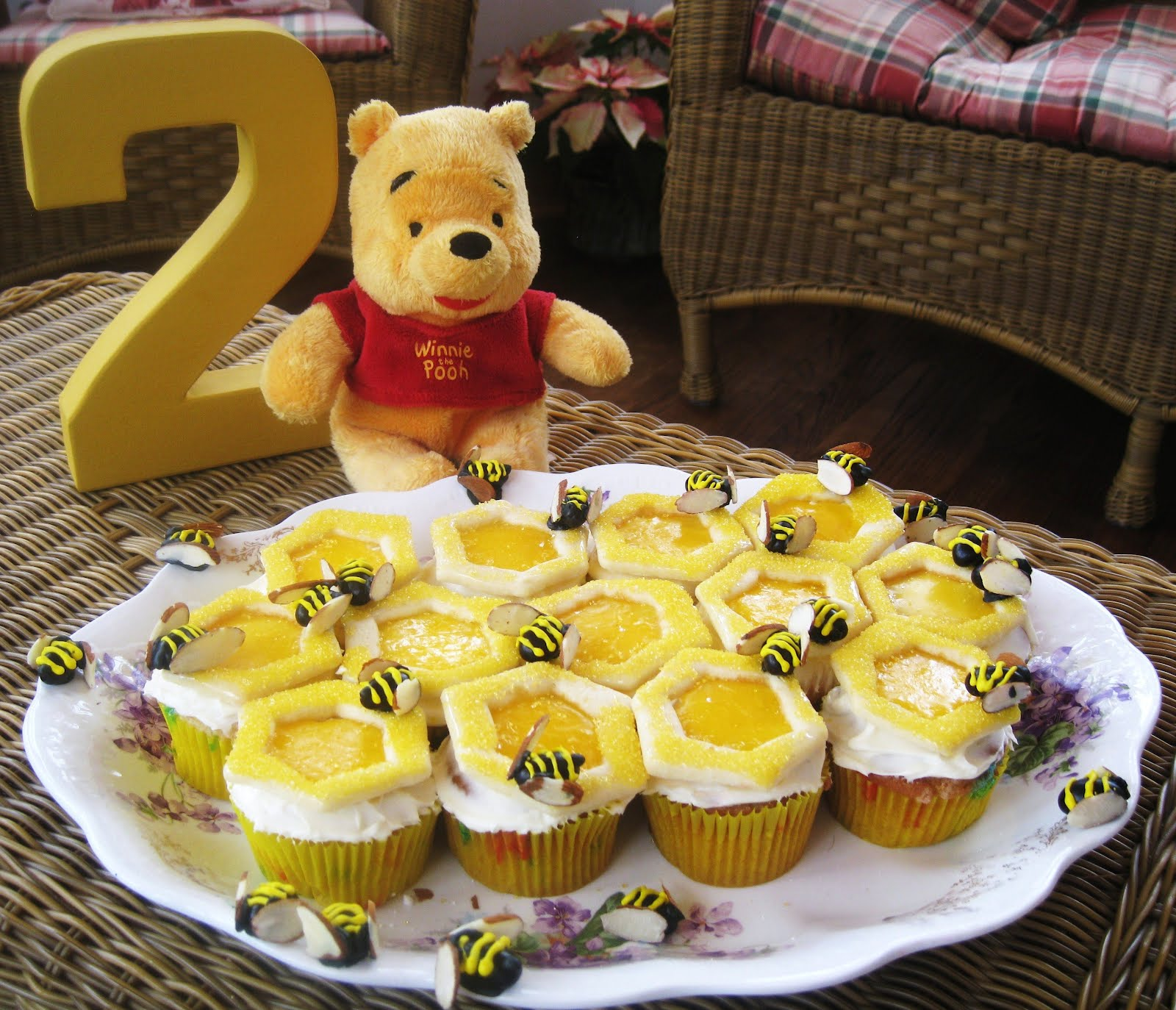 EJs Favorite Movie Winnie The Pooh And Honey Tree Was Inspiration For Her Second Birthday Party At Avias I Offered To Make Cake