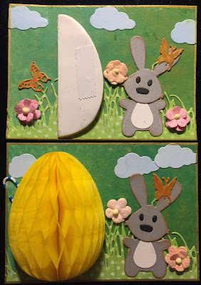 Easter Bunny with foldable egg ATC