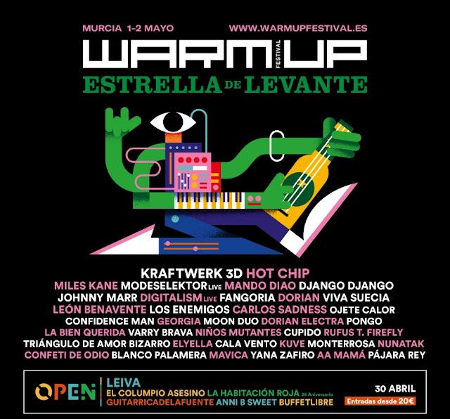 Festival WARM UP de Murcia (Kraftwerk, Hot Chip, Modeselektor, Johnny Marr...) Aitanatour