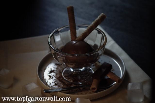 selbstgemachtes Schokoladeneis ohne Eis aus der Eismaschine - Foodblog Topfgartenwelt