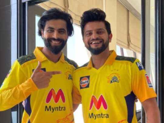 IPL 2021 : ऑलराउंडर रविंद्र जडेजा CSK कैम्प से जुड़े, सुरेश रैना बोले - 'बापू पधारे छे'