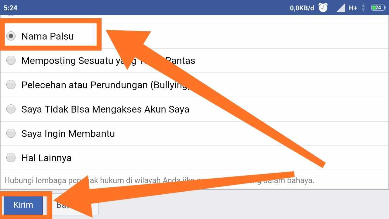 Cara melaporkan akun fb yang di hack