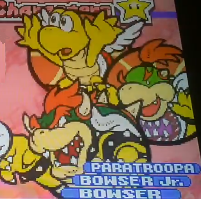 Mario Hoops 3-on-3 Bowser Paratroopa Bowser Jr. character selection art