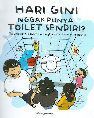 Jika toilet sehat maka sanitasi aman