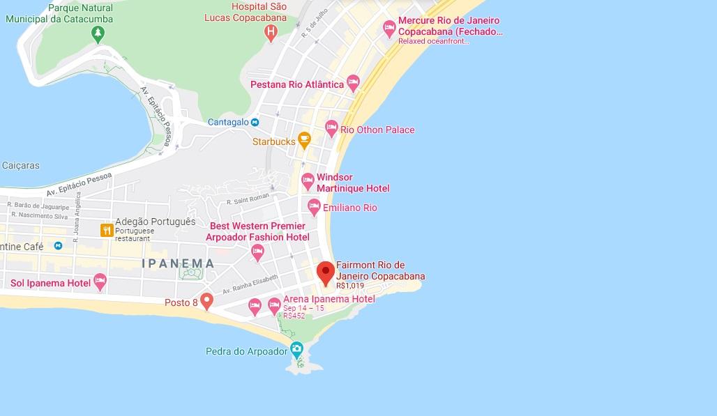 fairmont copacabana map
