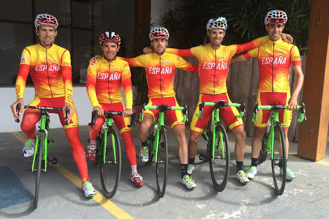 Los cinco magníficos para la prueba en ruta de ciclismo
