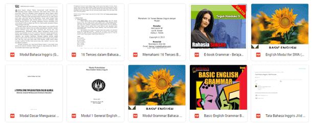 E-Book Buku Modul Grammar Bahasa Inggris