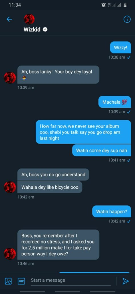 Wizkid Borrows N5m From Lanky To Launch Made in Lagos Album In A Leaked Chat  #Arewapublisize