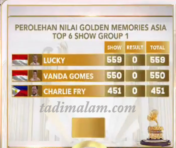 Golden Memories Asia - Top 6 Group 1