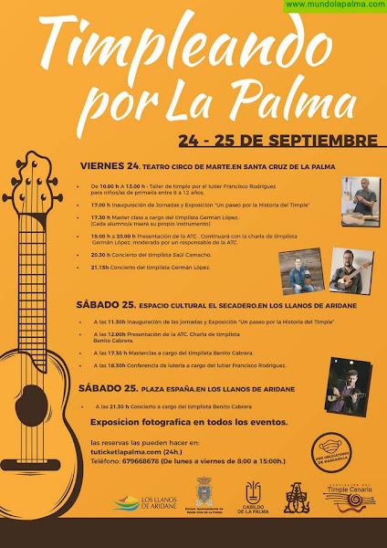Artesanía promueve la cultura del timple en la Isla con 'Timpleando La Palma'