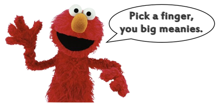 Elmo Pick a Finger Meme