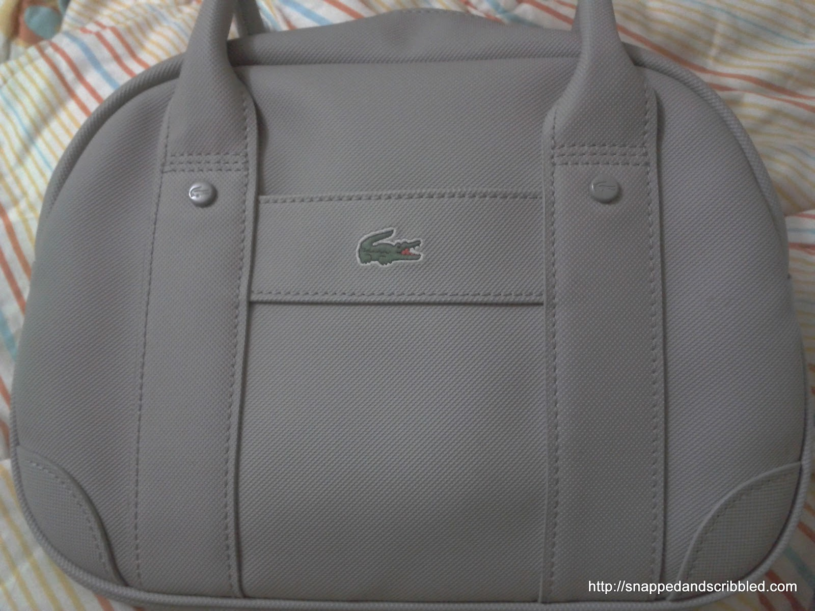 f8724860d53 So I finally decided to buy my first ever Lacoste bag. I wanted the  Shopper's Bag but ended purchasing the Bowler's bag.